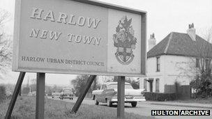 Harlow New Town sign