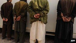 Taliban suspects are arrested (file image)