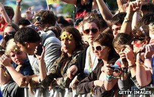 Festival crowd with cameras and camera-phones