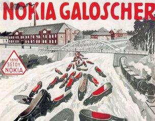 Nokia Galoscher poster from the 1920s