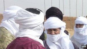 Tuareg fighters. File photo