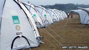 ShelterBox tents in Mindanao. Pic: AFP/Getty Images