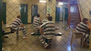 Prisoners in a South Dakota jail