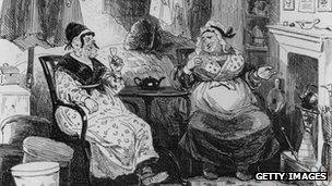 A scene from Martin Chuzzlewit, which was published in 1843-4