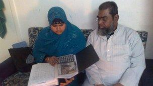 Muslim faith crime victims Sabana Amod and her husband Salim
