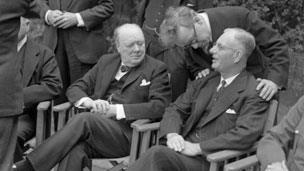 Winston Churchill and John Curtin, 1944