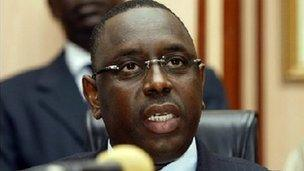 Presidential candidate Macky Sall