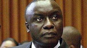 Presidential candidate Idrissa Seck