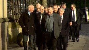 Some of the skippers involved arriving at High Court in Glasgow