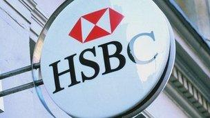 Arwydd HSBC (generic)