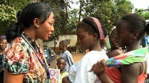 Left: Aminata Ngegbai