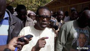 Youssou N'Dour in Dakar, 26 February
