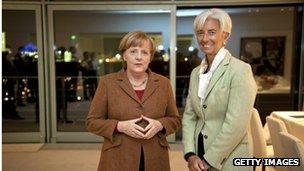 Angela Merkel and Christine Lagarde