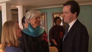 Katty Kay (left), Christine Lagarde, George Osborne