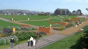 How the sunken gardens will look