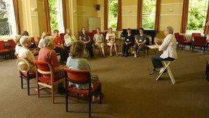 A talk at Woodbrooke Quaker Study Centre. Photo: Woodbrooke Quaker Study Centre
