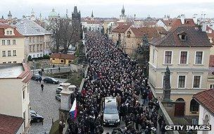 Funeral procession for Vaclav Havel