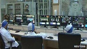 Control room at Natanz, Iran, 15 Feb 2012