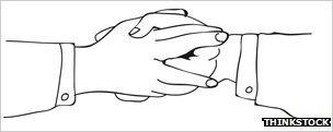 "Illustration of a ""masonic handshake"""