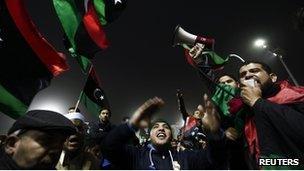 Demonstrators in Tripoli - 9 March