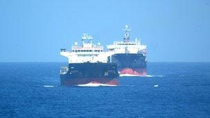 Convoy of merchant vessels