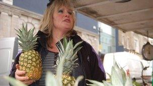 Market stallholder Cheryl Collins