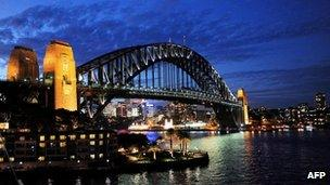 File photo of the Sydney Harbour Bridge 26 May, 2009