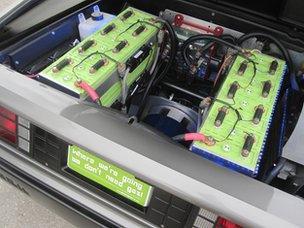 The DMC-EV's battery powered engine