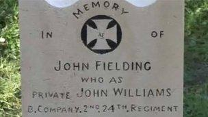 John Fielding is buried at St Michael's Church, Llantarnam