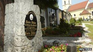Undated file photo of the grave of Alois and Klara Hitler