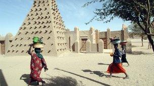 The Djingareyber Mosque in Timbuktu (file image)