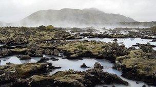 Geothermal springs in Iceland