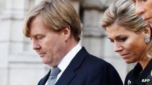 Dutch Crown Prince Willem-Alexander and Princess Maxima (22 Mar 2012)