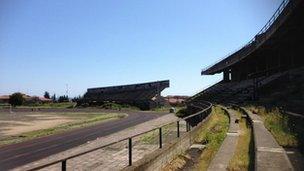 Giarre unfinished polo ground/sport stadium