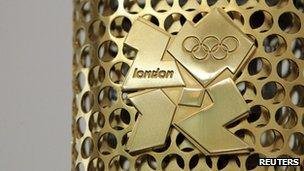 Olympic torch detail