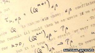 Turing paper photograph