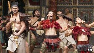 Members of New Zealand's Ngakau Toa theatre company