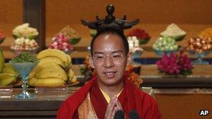 Picture of the Panchen Lama at the conference in Hong Kong