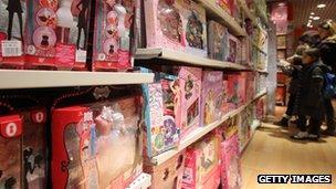 Children in toy shop