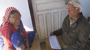 Prof Pokharel with Gyani Maiya Sen