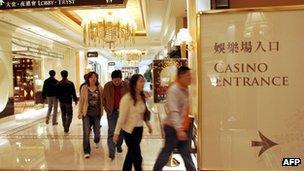 Entrance of Wynn Casino in Macau