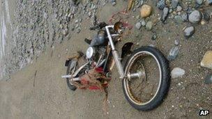 Harley Davison that washed up in Canada April 2012
