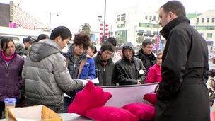 Tony Caldeira at recruitment fair in China