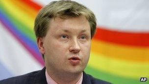 Nikolay Alexeyev in a photo from May 2010