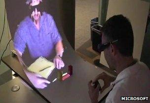 MirageTable: Microsoft presents augmented reality device