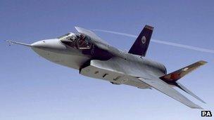 F35-B fighter jet in flight