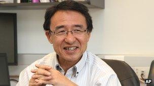 Japanese astronomer Koichiro Morita, 7 May 2012