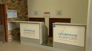 Cambridge Airport interior
