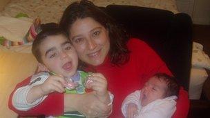 Rea Prouska and children