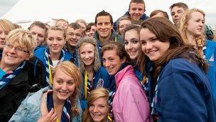 Bear Grylls at the 2011 World Scout Jamboree